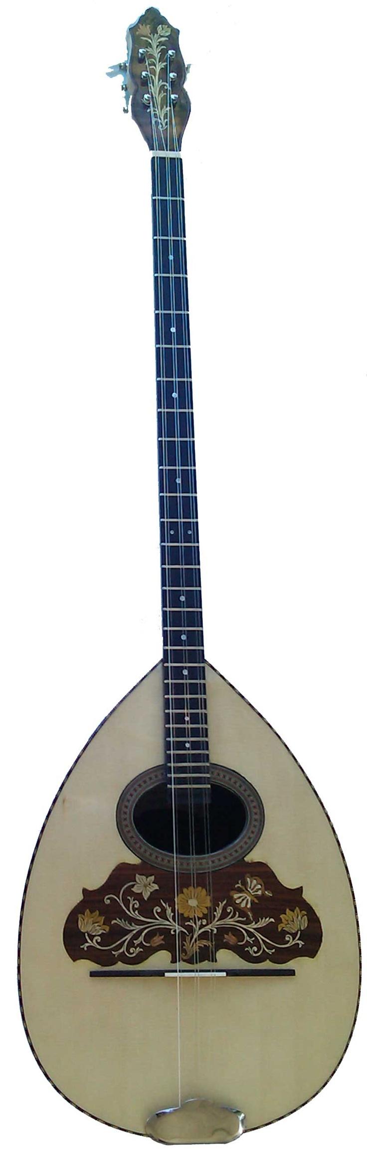 The Original Greek Bouzouki called a Trikortho, ( 3 pairs if strings tuned DAD, used in Rebetika, (Greek Blues) circa 1920's to mid 1940's. More Oriental sounding than the modern Bouzouki.