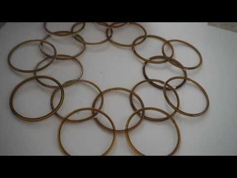 Wall Hanging From Bangles And Mirror How To Make Wall Hanging From Bangles And Mirror? How to make wall hangings at home with waste material?