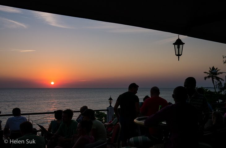 africa house hotel, sunset, stone town