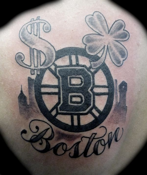 Boston Bruins Logo with Shamrock and Dollar Sign Tattoo by ...