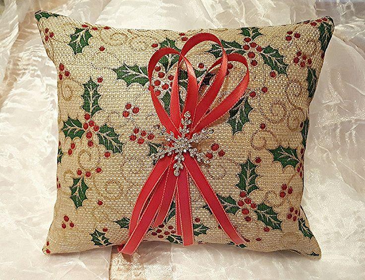 Rustic Wedding Ring Bearer Pillow Winter country ring bearer pillow Burlap Ring Bearer Pillow & 25+ cute Country ring bearers ideas on Pinterest | Ring bearer ... pillowsntoast.com