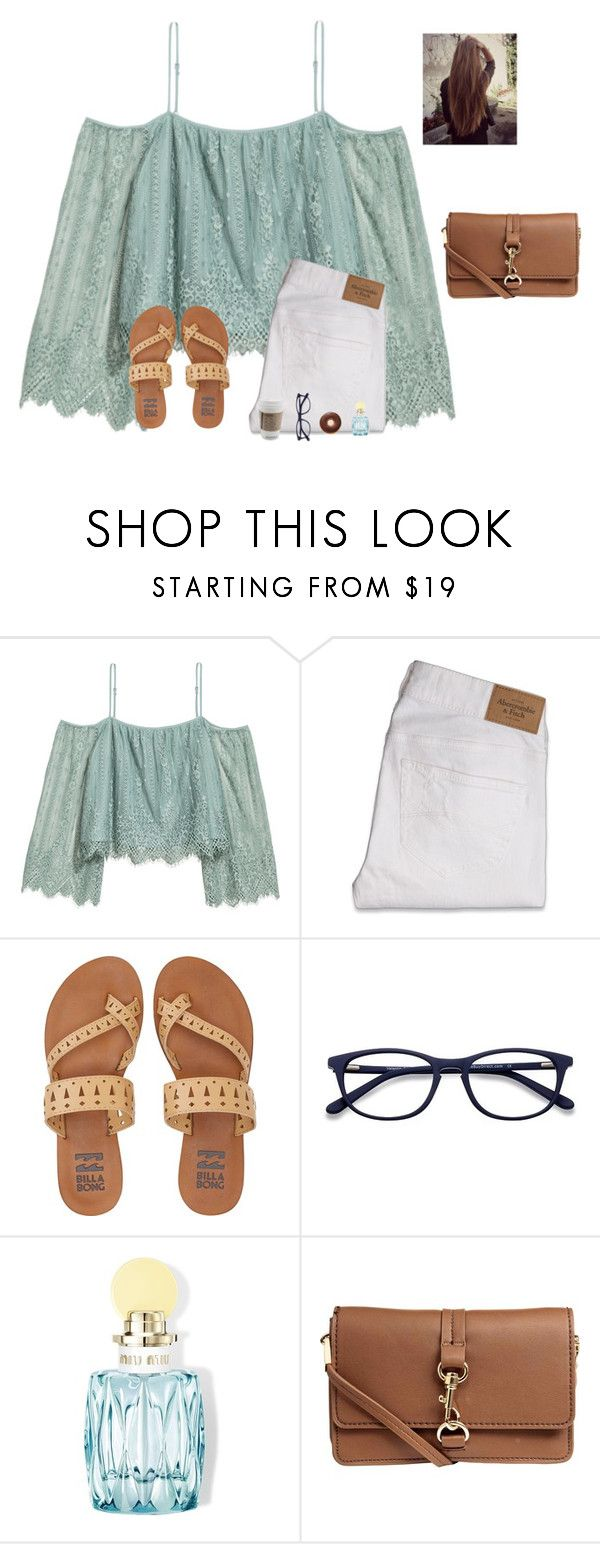 """Song recommendations?"" by raquate1232 ❤ liked on Polyvore featuring H&M, Abercrombie & Fitch, Billabong, EyeBuyDirect.com and Miu Miu"