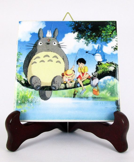 Studio Ghibli Totoro wall hanging from My di TerryTiles2014
