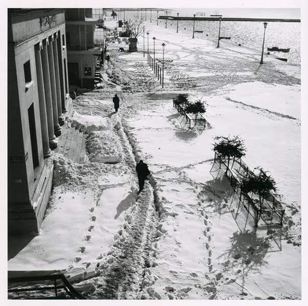 Δημήτρης Λέτσιος_ένα πορτρέτο του Βόλου _Η οδός Αργοναυτών σκεπασμένη με χιόνι