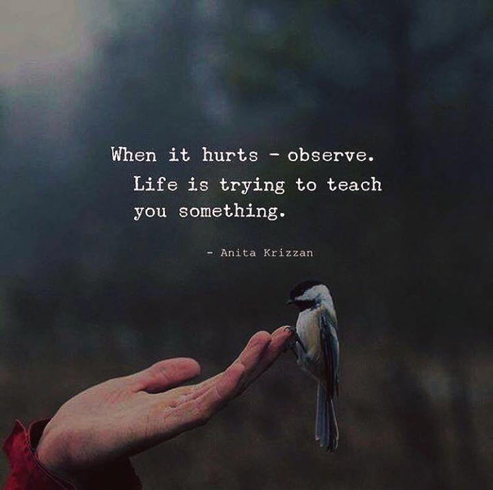 When it hurts - observe.
