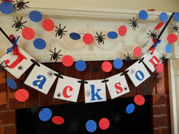 Spider hombre fiesta decoraciones Spiderman por anyoccasionbanners