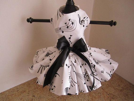 Dog Dress XS White with Black By Nina's by NinasCoutureCloset