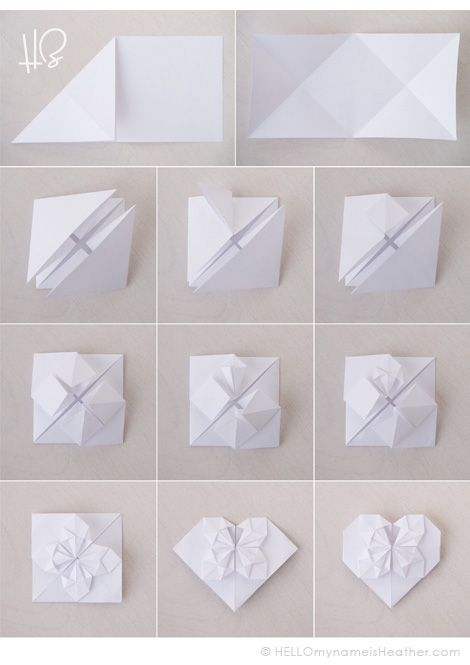 Origami Hearts At HELLOmynameisHeather Free Photo Tutorial