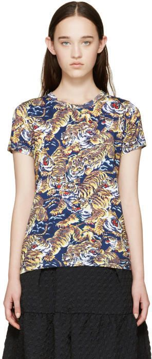 Kenzo Navy Flying Tiger T-Shirt