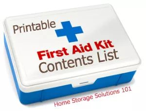 first aid contents list