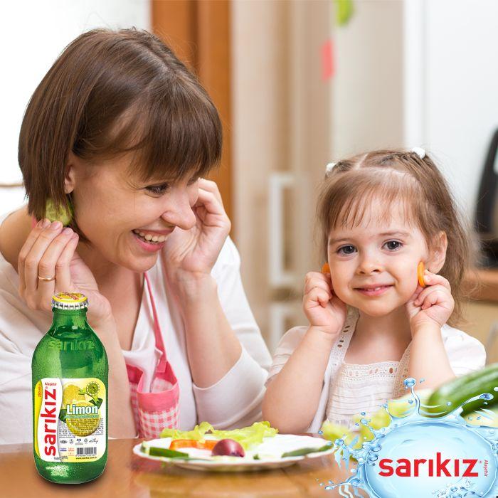 Yetişkinler kadar, küçükler de ona bayılıyor; Sarıkız Limon... #Sarıkız #Maden #Su #Limon #Aroma #Anne #Çocuk