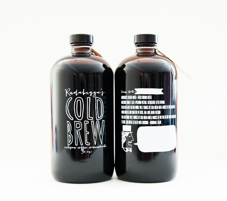 Cold brew packaging design with handdrawn typography! Who doesn't love it cold!? #coldbrew #packagingdesign