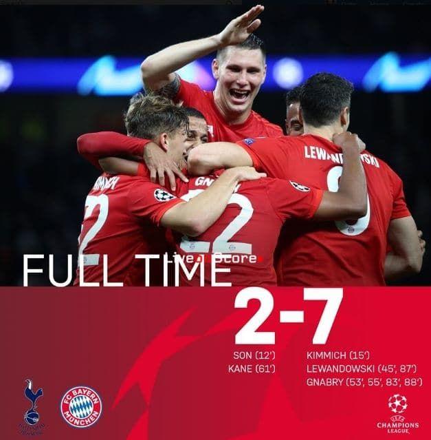 Tottenham 2-7 Bayern Munich Full Highlight Video – Uefa Champions League -  #AllSportsNews #Football #HighlightVideos #Ue… | Tottenham, Bayern, Uefa  champions league