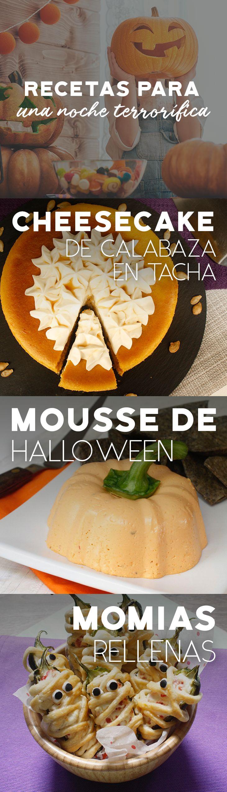 Pasa un Halloween espeluznante y delicioso con estas divertidas recetas.   #recetas #receta #quesophiladelphia #philadelphia #crema #quesocrema #queso #comida #cocinar #cocinamexicana #recetasfáciles #Halloween #calabaza #DíaDeMuertos #Nochedebrujas #recetasHalloween #terror #RecetasFáciles #recetascalabaza #momias #mousse #tradiciones