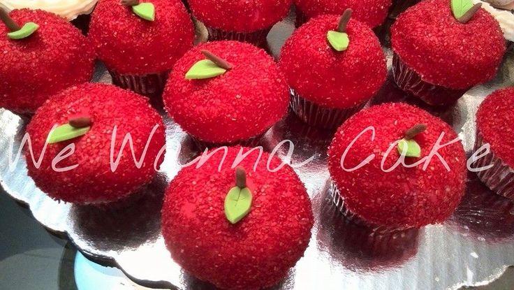 Manzanas blanca nieves cupcakes