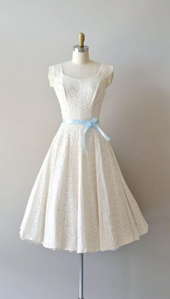 lace 50s wedding dress / 1950s dress / Fidelia lace dress