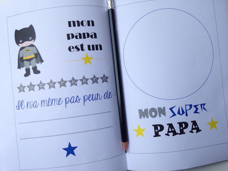 {Free} Un book pour les papas à imprimer et à compléter!   Free printable book father day by Moma