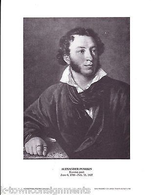 Alexander Pushkin Russian Poet Vintage Portrait Gallery Poster Print