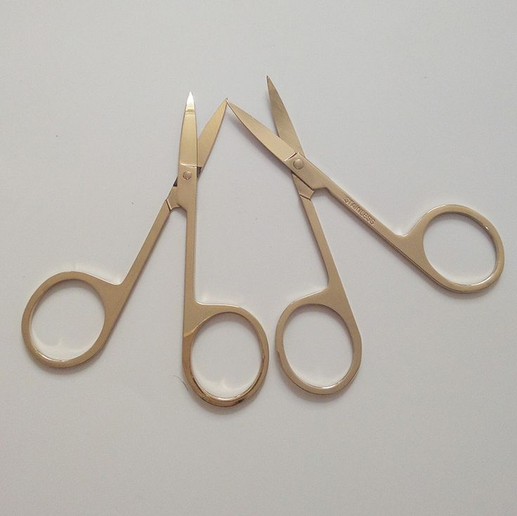2pcs Professional light gold Nail Scissor Manicure For Nails Eyebrow Nose Eyelash Cuticle Scissors Curved Makeup. Click visit to buy #Nail #Tool #NailTool