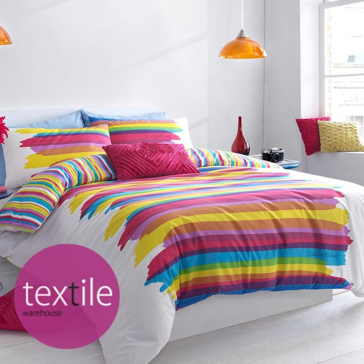 jericho modern rainbow paint pallet duvet quilt cover bedding set zandra rhodes in home furniture u0026 diy bedding bed linens u0026 sets