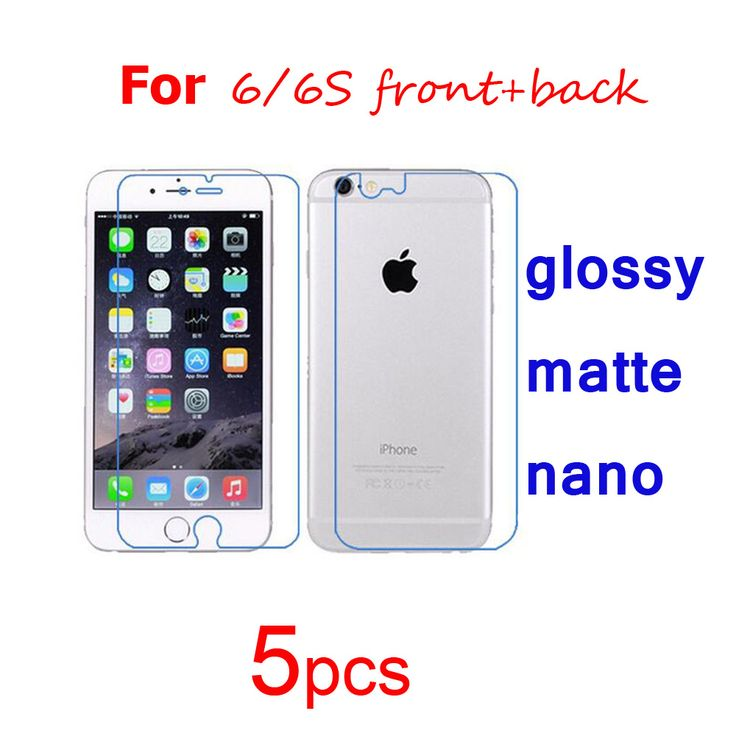 5pcs Clear/matte/Nano phone guard Protective Films for iphone i6 6s/i6 6 plus 6+/i5 5s se/i4 4s front+Back Screen Protector Film