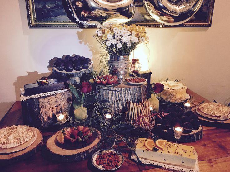 Mesa rústica dulces