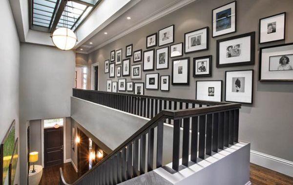 Treppenhaus gestalten wände  schwarz weiß bilder - Treppenhaus und Flur | Ikea | Pinterest ...