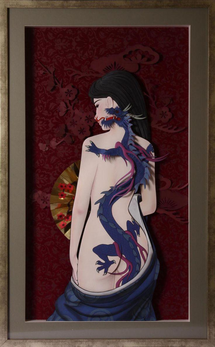 Paper Sculpture Mangá Dragão realizado por Vlady e Helena Keiko
