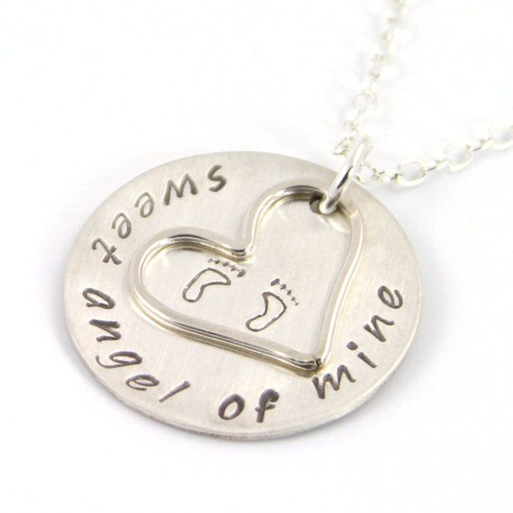 Pregnancy Loss Necklace Miscarriage Jewelry by RememberMyAngel, $58.00