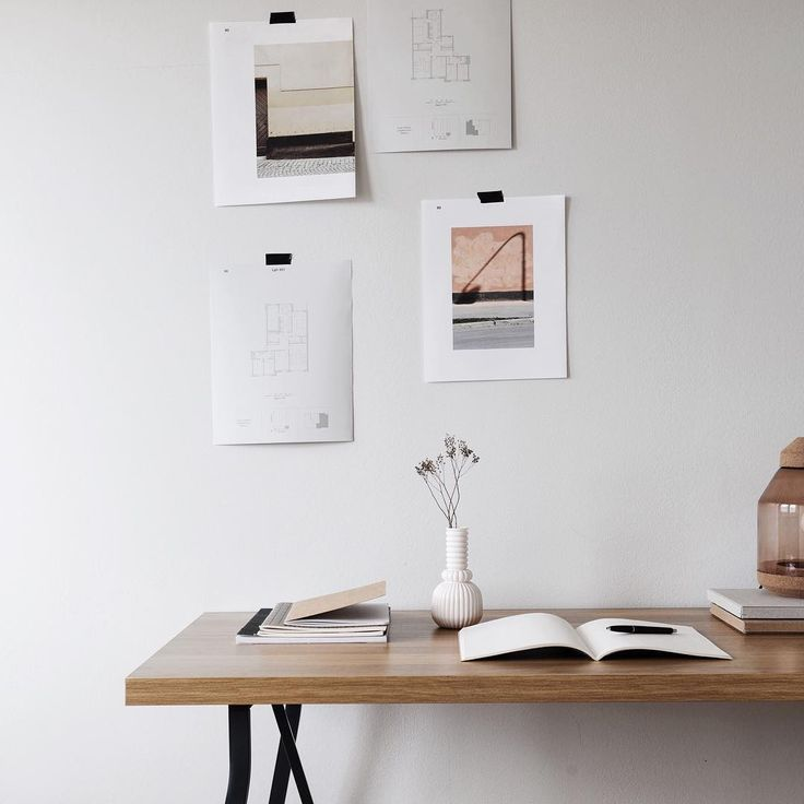 Home Office Peg Board Task Lamp White Room House Plants
