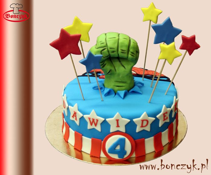 #Hulk; #captainamerica; #kapitanameryka; #cake; #tort; www.bonczyk.pl