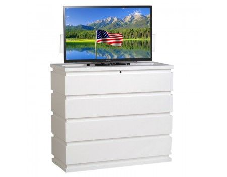 maximize bedroom space with foot of the bed tv lifts