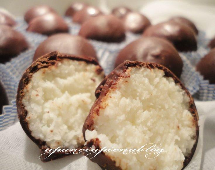 Cioccolatini+al+cocco+(ricetta+veloce)