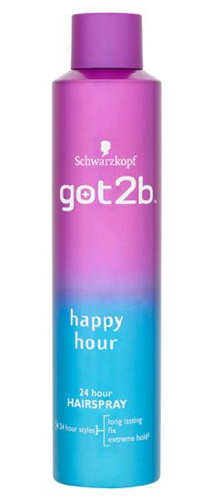 Schwarzkopf Got2b Happy Hour Hairspray 300ml Schwarzkopf Got2b Happy Hour Hairspray 300ml: Express Chemist offer fast delivery and friendly, reliable service. Buy Schwarzkopf Got2b Happy Hour Hairspray 300ml online from Express Chemist today! (B http://www.MightGet.com/january-2017-11/schwarzkopf-got2b-happy-hour-hairspray-300ml.asp