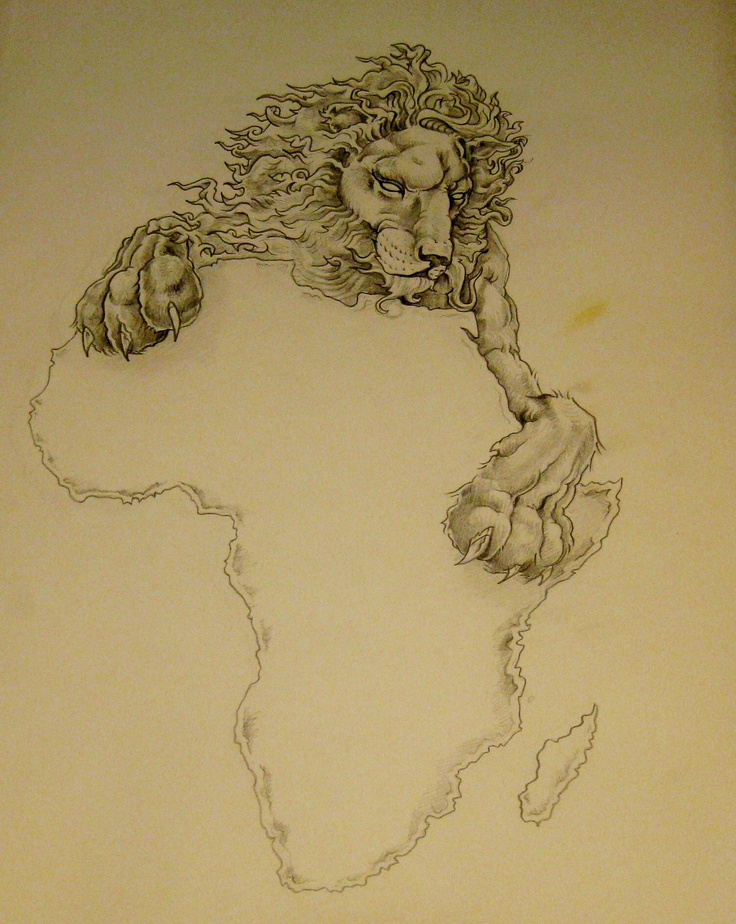 A lion over Africa, Nice!
