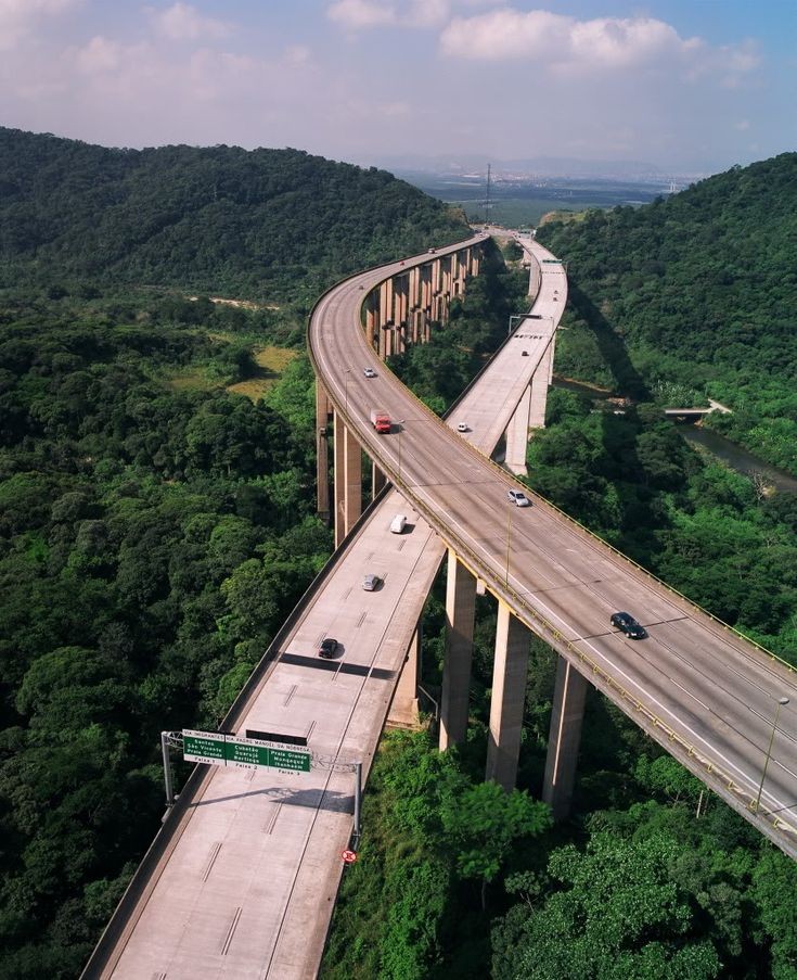 Imigrantes Highway. São Paulo, Brazil