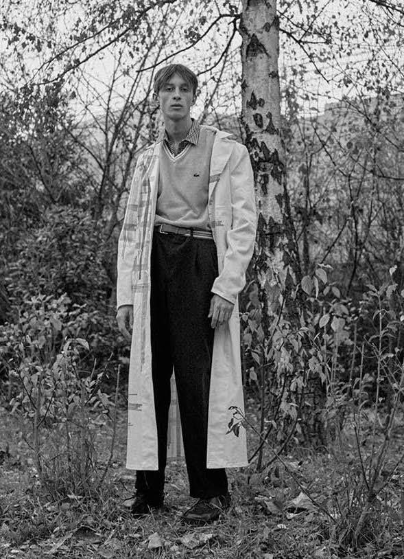 THE GREATEST #9 THE YOUTH ISSUE  PHOTO THOMAS GOLDBLUM FASHION EDITOR BENOIT MARTINENGO  MODEL - JEAN LEMERSRE - Bananas Models — with Ben Martinengo.
