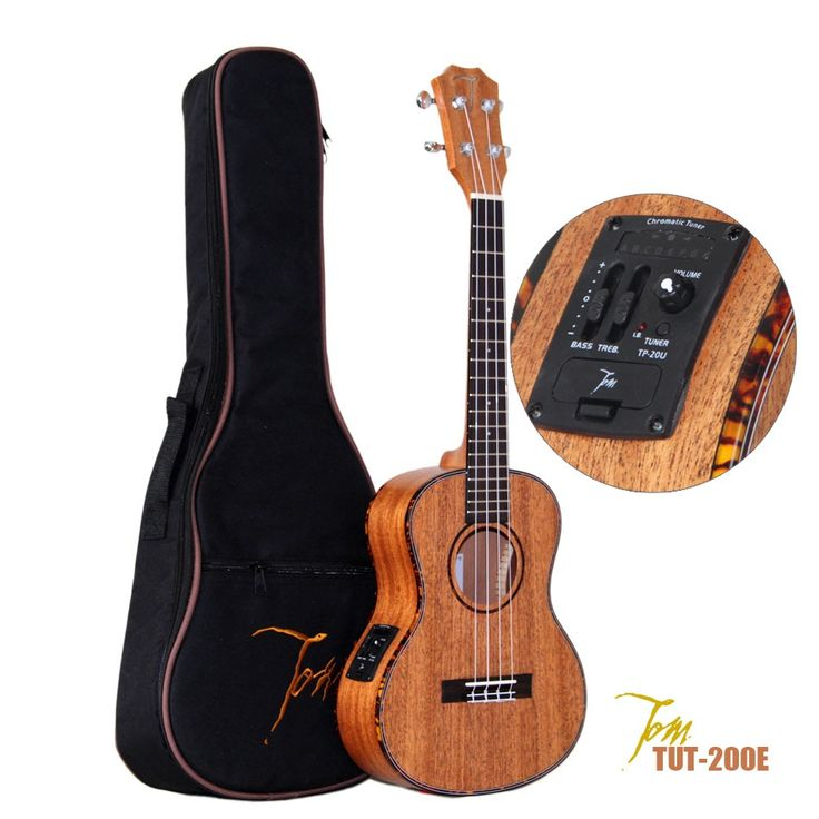 TOM TUT-200E 26 inch Tenor Ukulele with EQ and Aquila Strings