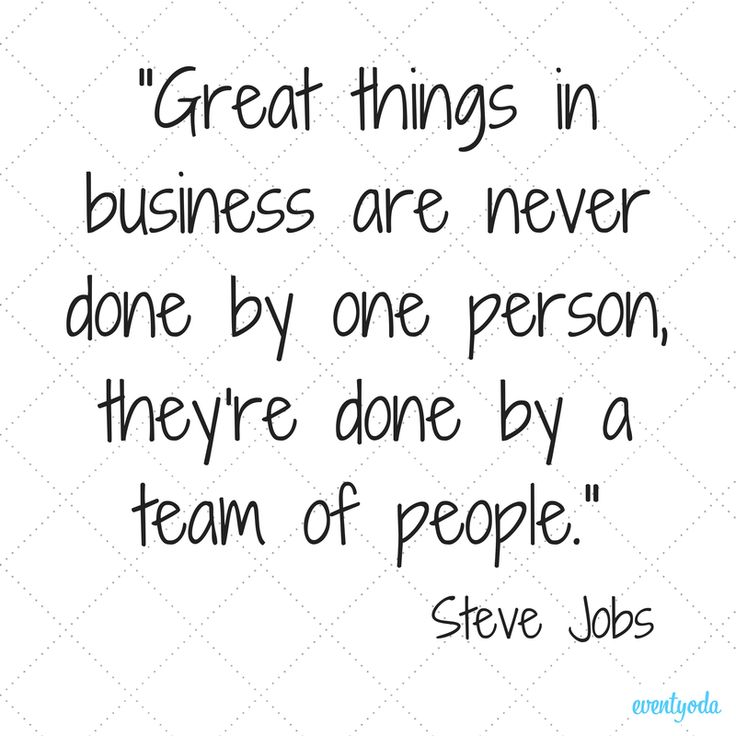 Great Job Team Quotes great things in business are never done by one ...