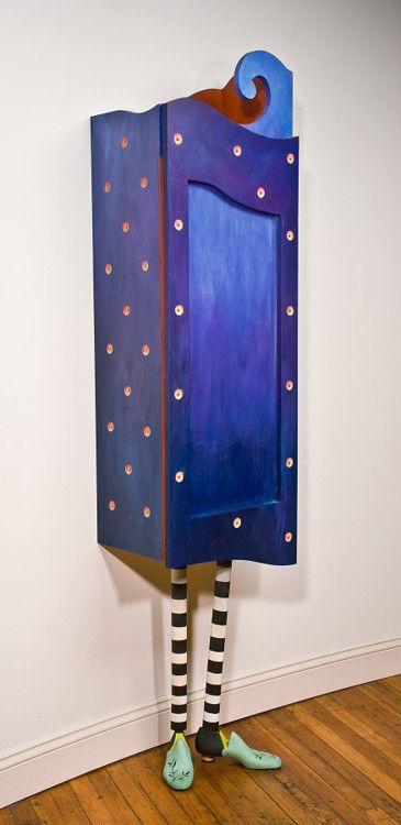"""Stella"" Whimsical Cabinet by Meg Romero Studio - Good use of old shoe forms!"
