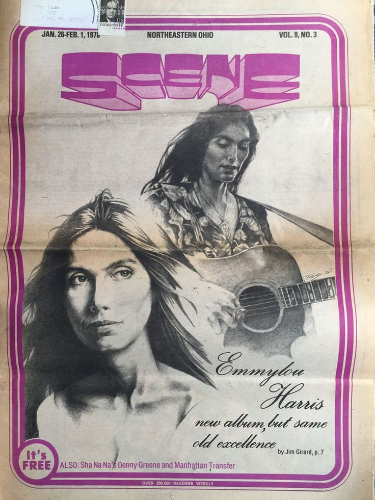 Scene Weekly Vintage Music January 26 1978 Emmylou Harris Drome Punk Denny Green