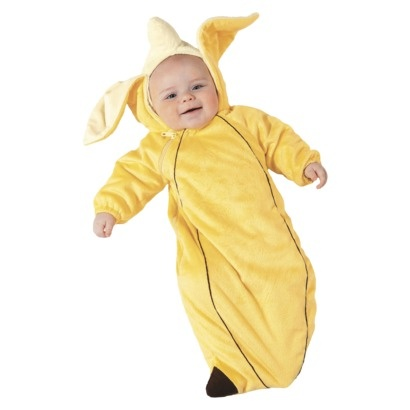 go bananas with baby infant banana costume for 0 6 months halloween - Banana Costume Halloween
