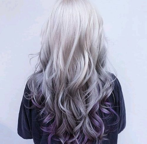 When I'm old and my hair is turning grey I am going to keep it longer and get purple tips. Because it's awesome and no one would expect it..