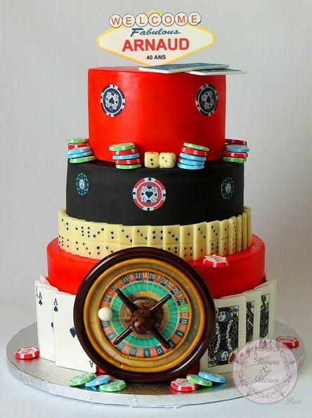 Casino Cake - by galya @ CakesDecor.com - cake decorating website