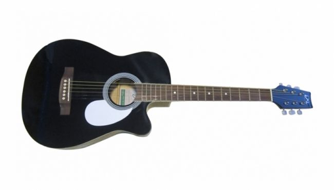 Exl MJG 305C BK Acoustic Guitar @ 4000. 39'' SIZE CUT AWAY ACOUSTIC GUITAR COLOURS AVAILABLE IN BK, BLS, PPS, RDS.