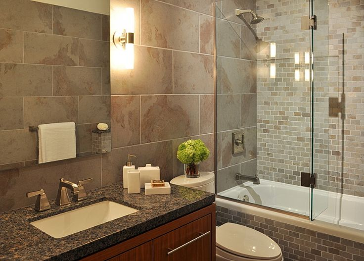 Small modern bathroom cottage bathroom in law suite for Small bathroom remodel modern
