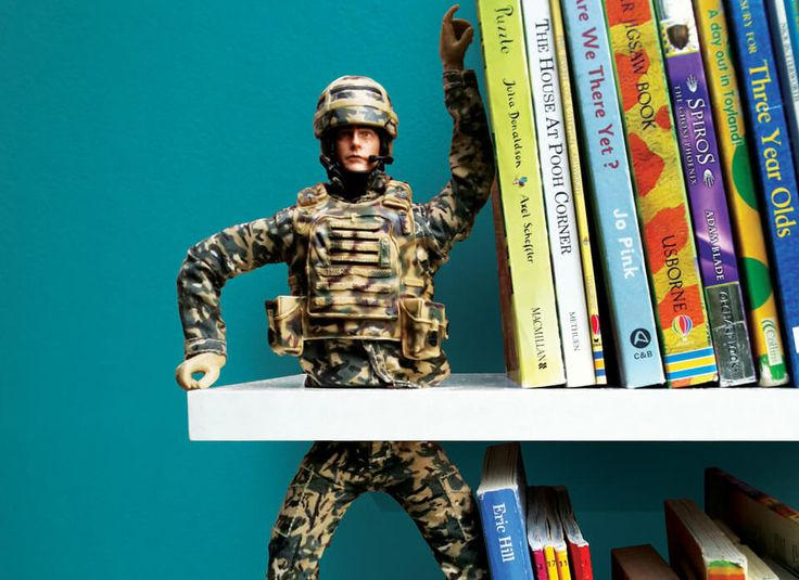 A repurposed action figure bookend with an unexpected twist. Simple to make, just follow the fun instructions (works for Barbies as well!).