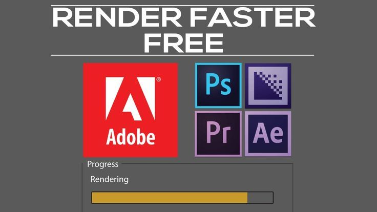 If You Have An Unoptimized Adobe Program For Video Editing Like
