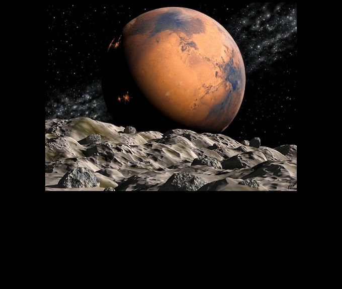 Deimos Seen From Mars - Pics about space