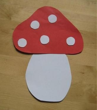 Smurf Birthday Party Activity ideas:  Mushroom craft for toddlers